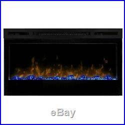Bowery Hill 34 Wall Mount Linear Electric Fireplace Insert in Black