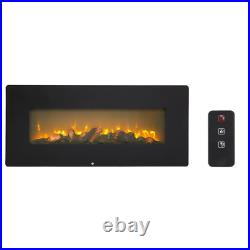 Briner 42''Wall Mounted Electric Fireplace Insert with Remote Control Adjustable