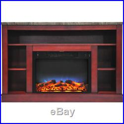 CAM50211CHRLED-47 In. Electric Fireplace with a Multi-Color LED Insert and