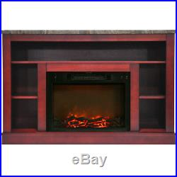 CAM50211CHR-47 In. Electric Fireplace with a 1500W Log Insert and Cherry M