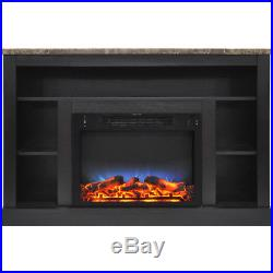 CAM50211COFLED-47 In. Electric Fireplace with a Multi-Color LED Insert and