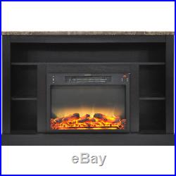 CAM50211COFLG2-47 In. Electric Fireplace with Enhanced Log Insert and Blac