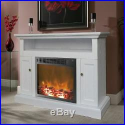 CAMBRIDGE CAM5021-2WHT Fireplace Mantel with Electronic Fireplace Insert, 50