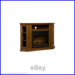 CORNER OR FLAT ELECTRIC FIREPLACE Heater Stove TV Stand MEDIA CABINET Furniture