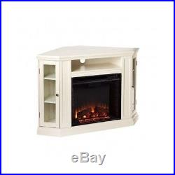 CORNER OR FLAT ELECTRIC FIREPLACE Heater Stove TV Stand MEDIA CONSOLE Furniture