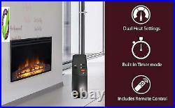 Cambrid 25-In. Freestanding 5116 Btu Electric Ventless Heater Insert With Remote