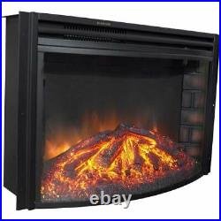 Cambridge 25 Freestanding Electric Curved Fireplace Heater Insert