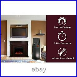 Cambridge 47.8-in. Shelby Electric Fireplace Mantel with Deep Log Insert, Mah