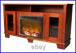 Cambridge Savona Cherry Fireplace Mantel with Electronic Fireplace Insert