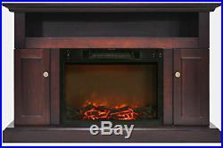 Cambridge Sorrento Fireplace Mantel with Electronic Fireplace Insert, Mahogany