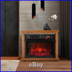 Christmas 28 Electric Fireplace Embedded Insert Heater Flame with Remote Control