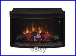 ClassicFlame 25EF031GRP 25 Curved Electric Fireplace Insert with Safer Plug