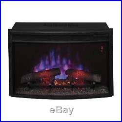 ClassicFlame 25EF031GRP 25-inch Curved Electric Fireplace Insert with Safer Plug