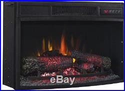 ClassicFlame 25EF033CLG Curved Glass Front Electric Fireplace Insert