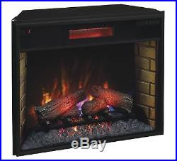 ClassicFlame 28II300GRA 28 Infrared Quartz Fireplace Insert with Safer Plug