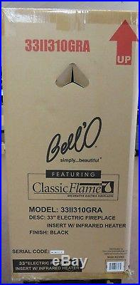 ClassicFlame 33II310GRA 33 Infrared Quartz Fireplace Insert Safer Plug Classic