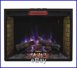 ClassicFlame 33II310GRA 33 Infrared Quartz Fireplace Insert with Safer Plug