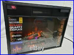 ClassicFlame Infrared Quartz Electric Fireplace Insert with Safer Plug, 28in