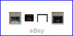 Classic Flame 28II300GRA 28 inch Electric Fireplace Insert with Black Metal Trim