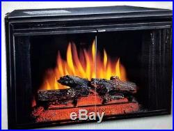 Classic Flame 28 Electric Fireplace Insert with Glass Doors #28EF004GRS with Heater