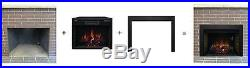 Classic Flame 32 3D Electric Fireplace Insert with 40x26 Black Trim #32II042FGL