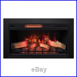 Classic Flame 33 3D Electric Fireplace Insert 33II042FG with 40 x 30 Black Trim