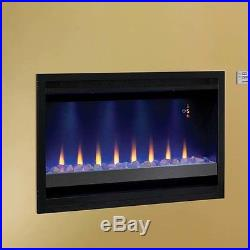 Classic Flame Builder Box Contemporary Wall Mount Electric Fireplace Insert