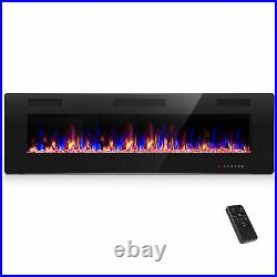 Cloud Mountain 60 Electric Fireplace Recessed 3.86 Ultra Thin Insert, Wall