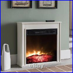 Compact Electric Fireplace 23 in. Built-in Insert Thermal Shut Off Rocker Switch