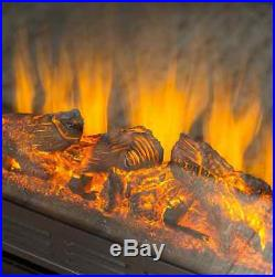 Corner Electric Fireplace Insert Brown TV Stand Heater Mantel Remote Flame Logs