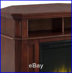 Corner TV Stand Fireplace Electric Adjustable Insert Heater Wooden Mantle Remote