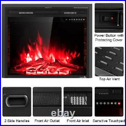 Costway 30'' 750W-1500W Fireplace Electric Embedded Insert Heater Glass Log