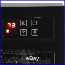 Della Embedded Fireplace Electric Insert Heater Glass View Log Flame 1400 Watts
