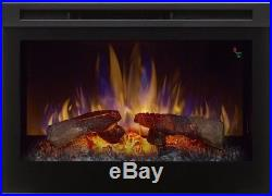 Dimplex 25 in Electric Firebox Fireplace Insert Adjustable Flame Color