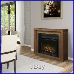 Dimplex Anthony Mantel with 28 XHD28L Electric Fireplace insert heats 1,000 sq ft