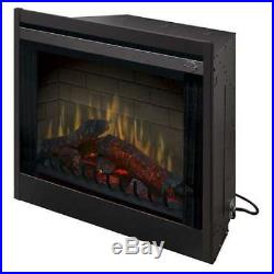 Dimplex Deluxe LED Home 33 Inch Built In Electric Fireplace Insert (Damaged)