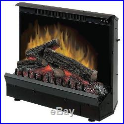 Dimplex Embedded Electric Fireplace Insert Remote Control Deluxe 23 Inch Black