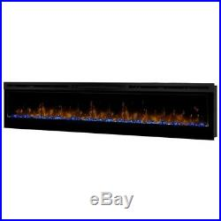 Dimplex Prism 74 Wall Mount Linear Electric Fireplace Insert in Black