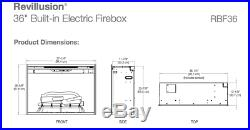 Dimplex Revillusion 36 Electric Built-in Firebox Fireplace RBF36 Insert