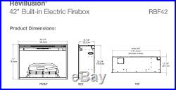Dimplex Revillusion 42 Electric Built-in Firebox Fireplace Insert RBF42