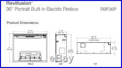 Dimplex Revillusion Portrait 36 Electric Built-in Firebox Fireplace Insert