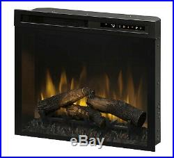 Dimplex electric fireplace insert, heater, LED color changing Logs