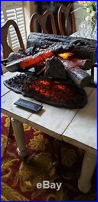 Dimplex open hearth fireplace insert faux logs and fire bed model DLG1058