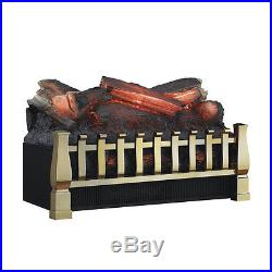 Duraflame 20-Inch Brass Electric Fireplace Insert/Log Set