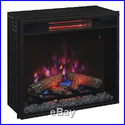 Duraflame 23 In Infrared Quartz Electric Fireplace Insert with Safer Plug (Used)