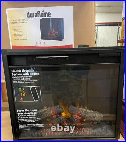 Duraflame 23 Inch Electric Fireplace Insert With Heater. Model 23EF022GRA