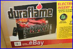 Duraflame Electric Log Set Heater Realistic Ember Fire Place Insert Black
