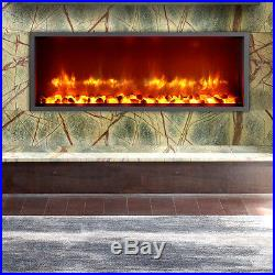 Dynasty Fireplaces 35 Built-in LED Wall Mount Electric Fireplace Insert