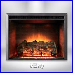 Dynasty Fireplaces 35 in. LED Electric Fireplace Insert in Black Matt