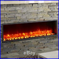 Dynasty Fireplaces 55 Built-in LED Wall Mount Electric Fireplace Insert